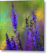 Salvia May Night Art -purple Modern Abstract Art Metal Print
