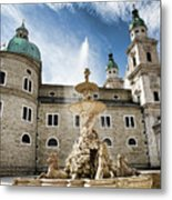 Salzburg Cathedral Metal Print