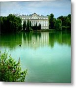 Salzburg Home With Lake Metal Print by Carol Groenen