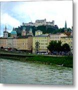 Salzburg Over The Danube Metal Print