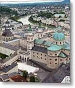 Salzburg Panoramic Metal Print
