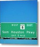 Sam Houston Pkway Metal Print