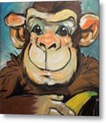 Sam The Monkey Metal Print