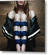 Samantha Bentley / Badbentley, Tied Legs - Fine Art Of Bondage Metal Print by Rod Meier