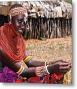 Samburu Beauty Metal Print