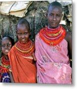 Samburu Sisters Metal Print