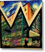 samoL Starry Night Metal Print