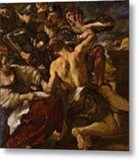 Samson Captured By The Philistines Metal Print