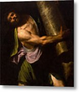 Samson In The Temple Metal Print
