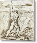 Samson Slaying The Philistines With The Jawbone Of An Ass Metal Print