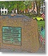 Samuel Adams Gravestone At Granary Burying Ground In  Boston-massachusetts Metal Print