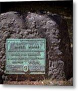 12- Samuel Adams Tombstone In Granary Burying Ground Eckfoto Boston Freedom Trail Metal Print