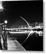 Samuel Beckett Bridge 2 Bw Metal Print