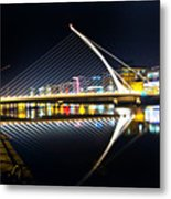 Samuel Beckett Bridge 3 Metal Print
