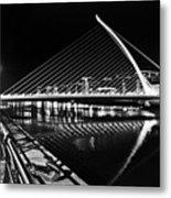 Samuel Beckett Bridge 5 Bw Metal Print