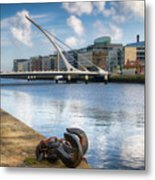 Samuel Beckett Bridge, Dublin, Ireland Metal Print