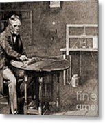 Samuel Morse And Telegraph, 19th Century Metal Print