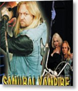 Samurai Vampire Bikers From Hell Metal Print