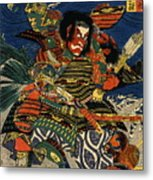 Samurai Warriors Battle 1819 Metal Print
