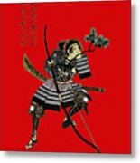 Samurai With Bow Metal Print