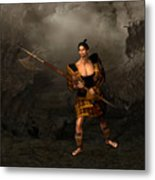 Samural Warrior Metal Print