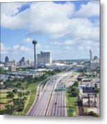 San Antonio City View -color Canvas Print Metal Print