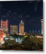 San Antonio Cityscape At Night Metal Print