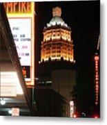 San Antonio Downtown Night Metal Print