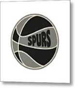 San Antonio Spurs Retro Shirt Metal Print