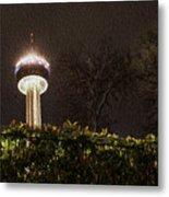 San Antonio Tower Of Americas Metal Print