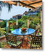 San Clemente Estate Patio Metal Print
