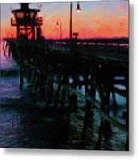 San Clemente Pier Sunset Metal Print