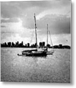 San Diego Bay Sailboats Metal Print