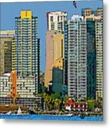 San Diego Downtown Living - Bayside Metal Print
