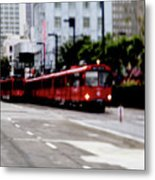 San Diego Red Trolley Metal Print