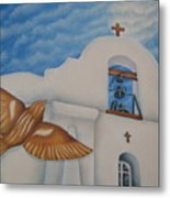 San Elizario On A Moonlit Morning Metal Print