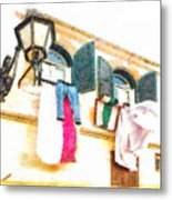 San Felice Circeo Put Clothes Metal Print