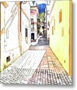 San Felice Circeo Street Metal Print