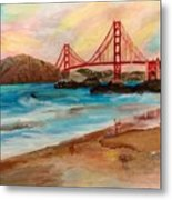 San Francisc Bridge Metal Print