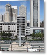 San Francisco . Union Square . 5d17938 Metal Print by Wingsdomain Art and Photography