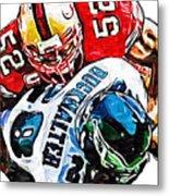 San Francisco 49ers Patrick Willis Philadelphia Eagles Correll Buckhalter  Metal Print by Jack K
