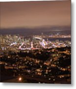San Francisco At Night Metal Print