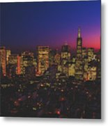 San Francisco At Sunset Metal Print