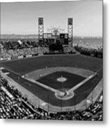 San Francisco Ballpark Bw Metal Print