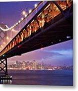 San Francisco Bay Bridge Metal Print by Photo by Mike Shaw