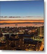 San Francisco Bay Early Morning Glow  Metal Print