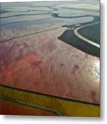 San Francisco Bay Salt Flats 5 Metal Print