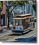San Francisco, Cable Cars -2 Metal Print