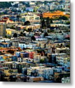 San Francisco California Scenic  Rooftop Landscape Metal Print