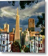 San Francisco Cliff Metal Print